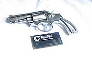 S&W Model 66 Stainless Steel Revolver Gun Cylinder and Frame BEFORE Chrome-Like Metal Polishing and Buffing Services