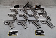 Aluminum Semi Automatic Gun Frame BEFORE Chrome-Like Metal Polishing and Buffing Services / Restoration Service