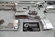 Aluminum Cobalt Kinetics AR - 15 Gun / Rifle Upper, Lower, Hand Grip and Trigger Guard BEFORE Chrome-Like Metal Polishing and Buffing Services / Restoration Service