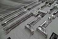Aluminum AR - 15 Semi Automatic Rifle BEFORE Chrome-Like Metal Polishing and Buffing Services / Restoration Service