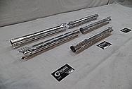 Cobalt Kinetics Aluminum AR-15 Gun Parts BEFORE Chrome-Like Metal Polishing and Buffing Services / Restoration Service