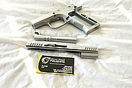 Witness 1 Stainless Steel Gun Slide, Frame and Barrel BEFORE Chrome-Like Metal Polishing and Buffing Services