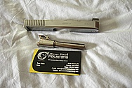 KAHR CW9 Stainless Steel Slide and Barrel BEFORE Chrome-Like Metal Polishing and Buffing Services