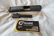Stainless Steel Glock Gun Slides & Gun Barrels BEFORE Chrome-Like Metal Polishing and Buffing Services