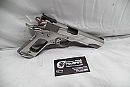 Colt Stainless Steel MKIV Series 80 Government Model Stainless Steel 1911 Semi-Automatic Gun / Pistol BEFORE Chrome-Like Metal Polishing and Buffing Services / Restoration Services