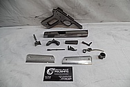 Colt Gold Cup Trophy .45 Auto Stainless Steel Gun / Pistol BEFORE Chrome-Like Metal Polishing - Stainless Steel Polishing