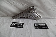 Beretta 92FS 9MM Auto Stainless Steel Gun / Pistol BEFORE Chrome-Like Metal Polishing - Stainless Steel Polishing