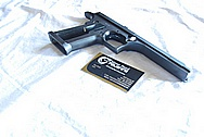 Desert Eagle Stainless Steel Semi Automatic Gun Piece BEFORE Chrome-Like Metal Polishing and Buffing Services