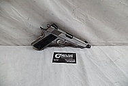 Colt Commander .45 Auto 1911 Stainless Steel Gun / Pistol BEFORE Chrome-Like Metal Polishing - Stainless Steel Polishing