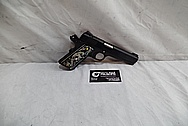 Colt Government Model .45 Auto 1911 Stainless Steel Gun / Pistol BEFORE Chrome-Like Metal Polishing - Stainless Steel Polishing