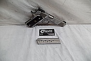 Springfield Armory 1911 9MM Stainless Steel Gun / Pistol BEFORE Chrome-Like Metal Polishing - Stainless Steel Polishing