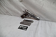 Colt Engraved .45 Auto 1911 Frame Stainless Steel Gun / Pistol BEFORE Chrome-Like Metal Polishing - Stainless Steel Polishing