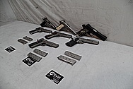 1911 Frame Stainless Steel Guns / Pistols BEFORE Chrome-Like Metal Polishing - Stainless Steel Polishing