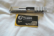 Springfield Armor XD-S .45 ACP Custom Stainless Steel Gun Slide BEFORE Chrome-Like Metal Polishing - Stainless Steel Polishing
