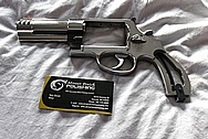 Smith & Wesson (S&W 500) 500 Stainless Steel Gun Frame, Cylinder and Barrel BEFORE Chrome-Like Metal Polishing and Buffing Services