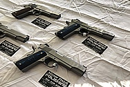 Colt Government Model .45 Caliber Guns / Pistols BEFORE Chrome-Like Metal Polishing - Stainless Steel Polishing