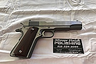 Colt Government Model .45 Caliber Gun / Pistol BEFORE Chrome-Like Metal Polishing - Stainless Steel Polishing