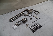 Steel Colt Python Revolver BEFORE Chrome-Like Metal Polishing and Buffing Services / Restoration Services - Steel Gun Polishing Services