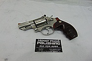 Smith & Wesson S&W Stainless Steel .357 Magnum Revolver BEFORE Chrome-Like Metal Polishing and Buffing Services - Stainless Steel Polishing - Gun Polishing