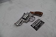 S&W Smith and Wesson Stainless Steel .357 Magnum Revolver BEFORE Chrome-Like Metal Polishing and Buffing Services - Steel Polishing - Gun Polishing