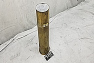Brass Howitzer Shell BEFORE Chrome-Like Metal Polishing and Buffing Services - Brass Polishing Services