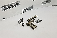 Stainless Steel Slide Action Gun Parts BEFORE Chrome-Like Metal Polishing - Stainless Steel Polishing