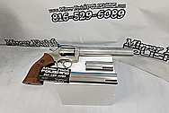 Dan & Wesson .357 Magnum Revolver BEFORE Chrome-Like Metal Polishing and Buffing Services / Restoration Services