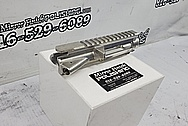 Aluminum AR-15 Upper and Lower Receiver BEFORE Chrome-Like Metal Polishing and Buffing Services - Aluminum Polishing Services - Gun Polishing