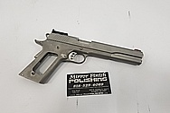 Kimber 1911 Stainless Steel Gun BEFORE Chrome-Like Metal Polishing and Buffing Services / Restoration Services - Stainless Steel Polishing - Gun Polishing