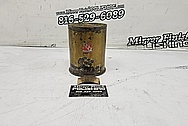 Brass Howitzer Shell BEFORE Chrome-Like Metal Polishing and Buffing Services - Brass Polishing - Gun Shell Polishing