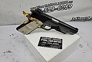 Taurus PT 1911 AR Super .38 Caliber Stainless Steel Gun BEFORE Chrome-Like Metal Polishing and Buffing Services - Stainless Steel Polishing Services - Gun Polishing Services