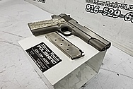 Colt 1911 .45 Caliber Semi - Auto Stainless Steel Gun / Pistol BEFORE Chrome-Like Metal Polishing and Buffing Services - Stainless Steel Polishing Services - Gun Polishing Services Plus Custom Gold Look Coating Services