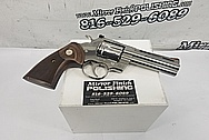 Colt Python .357 Magnum Stainless Steel Gun Parts BEFORE Chrome-Like Metal Polishing and Buffing Services - Stainless Steel Polishing - Gun Polishing