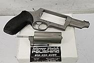 Stainless Steel Taurus Judge Gun Revolver BEFORE Chrome-Like Metal Polishing and Buffing Services - Stainless Steel Polishing - Gun Polishing