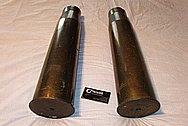 Brass 105MM Howitzer Shell BEFORE Chrome-Like Metal Polishing and Buffing Services / Restoration Services