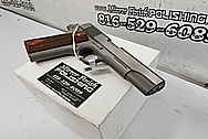 Colt 1911 Government Model .45 Auto Stainless Steel Gun Project BEFORE Chrome-Like Metal Polishing and Buffing Services / Restoration Services - Stainless Steel Polishing