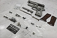 Beretta 92FS 9mm Auto Stainless Steel Gun Project BEFORE Chrome-Like Metal Polishing and Buffing Services / Restoration Services - Stainless Steel Polishing - Gun Polishing