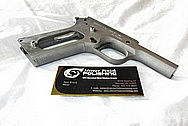 Stainless Steel Colt Gold Cup Trophy Gun BEFORE Chrome-Like Metal Polishing and Buffing Services / Restoration Services