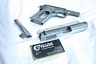 Stainless Steel Semi Automatic Gun Slide, Gun Barrel and Gun Frame BEFORE Chrome-Like Metal Polishing and Buffing Services