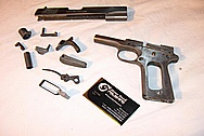 Colt Government Model Stainless Steel Gun / Pistol BEFORE Chrome-Like Metal Polishing and Buffing Services / Restoration Services