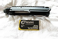 Walther AR-15 Steel Gun Piece BEFORE Chrome-Like Metal Polishing and Buffing Services / Restoration Services