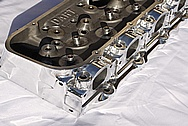 Chevy Nova V8 Aluminum Cylinder Head AFTER Chrome-Like Metal Polishing and Buffing Services