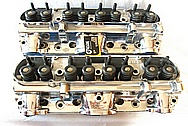 Edelbrock V8 Engine Aluminum Cylinder Heads AFTER Chrome-Like Metal Polishing and Buffing Services / Resoration Services