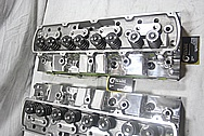 Mondello V8 Engine Aluminum Cylinder Heads AFTER Chrome-Like Metal Polishing and Buffing Services / Resoration Services