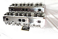 Aluminum V8 Engine Cylinder Heads AFTER Chrome-Like Metal Polishing and Buffing Services / Resoration Services