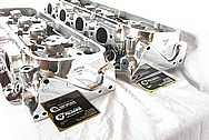 Brodix Big Brodie Aluminum Engine Cylinder Heads AFTER Chrome-Like Metal Polishing and Buffing Services / Resoration Services