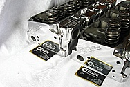 Brodix Aluminum Engine Cylinder Heads AFTER Chrome-Like Metal Polishing and Buffing Services / Resoration Services
