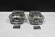 Harley Davidson Shovelhead Aluminum Engine Cylinder Heads AFTER Chrome-Like Metal Polishing and Buffing Services / Resoration Services