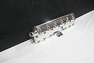 Flathead Aluminum Engine Cylinder Heads AFTER Chrome-Like Metal Polishing and Buffing Services / Resoration Services