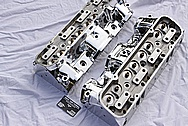 Edelbrock Chevy V8 Aluminum Cylinder Head AFTER Chrome-Like Metal Polishing and Buffing Services